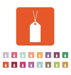 The price tag icon label symbol flat vector