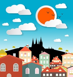Prague city - czech republic in europe vector