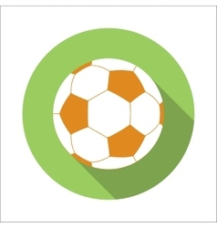 Football flat icon vector image