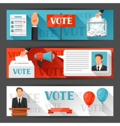 Vote political elections banners backgrounds for vector