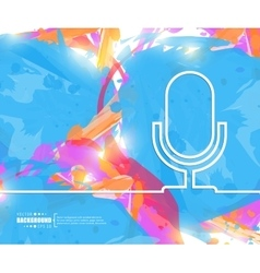 Creative microphone Art vector image