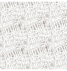 Spring garden pattern backgroundtoolsplants vector