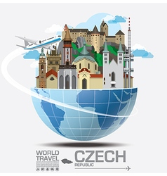 Czech landmark global travel and journey vector