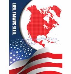 american flag brochure vector image vector image