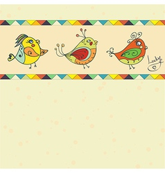 background with bird parrot vector image vector image