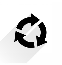 Black arrow icon refresh sign on white background vector