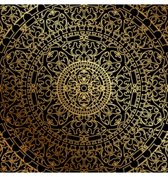 black background oriental ornament vector image