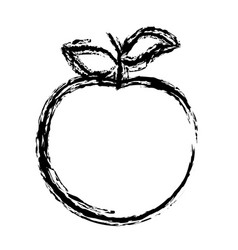 Blurred sketch contour apple fruit icon vector