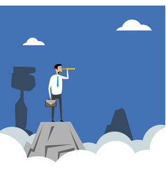 Businessman standing on top vector