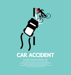 Car Accident With Bicycle vector image vector image
