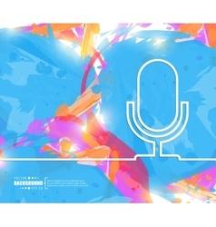 Creative microphone art vector
