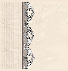 floral vignette border vintage background old vector image vector image