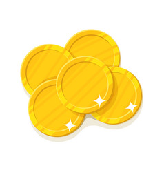gold coins cartoon style isolated vector image
