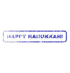 Happy hanukkah exclamation rubber stamp vector