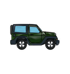 Jeep car vehicle adventure travel transport vector