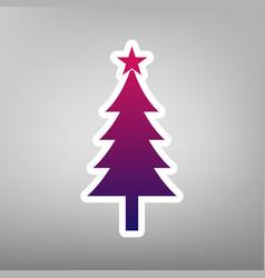 New year tree sign purple gradient icon vector