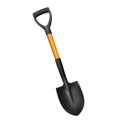 Photorealistic fiberglass shovel vector image vector image