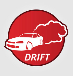 Race car drifting vector