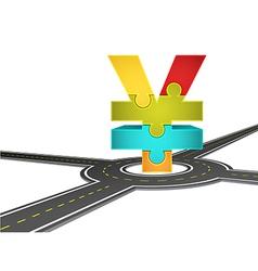 Road and yen vector