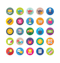 Shopping and commerce icons 6 vector