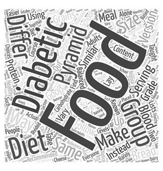 Using the food pyramid in diabetic diets word vector