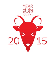 Year of goat 2015 vector