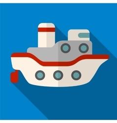 Ship flat icon vector image