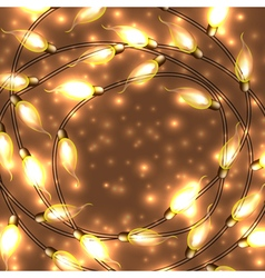 Colorful glowing christmas lights elements can be vector