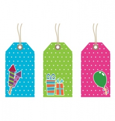 polka dot party tags vector image