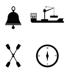marine and nautical icon vector image