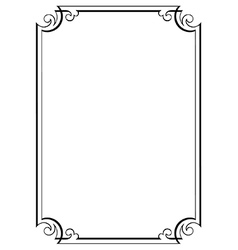 Decorative page border vector