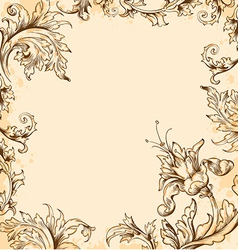 Floral victorian background vector