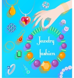 Jewelry fashion poster vector