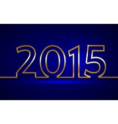 2015 new year greeting billboard with golden wire vector