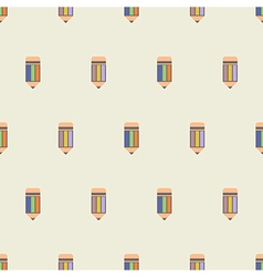 Seamless pattern with pencils vector