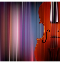 Abstract blue music background with violin vector