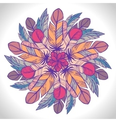 Color circular pattern round kaleidoscope vector