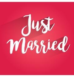 Just Married Lettering Design vector image
