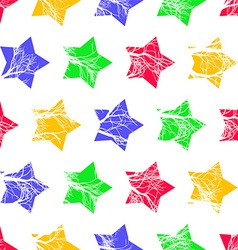 Abstract Colorful Stars Seamless Pattern vector image vector image
