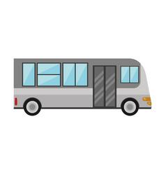 bus public transport vehicle vector image vector image