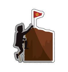 Businessman climbing to success vector