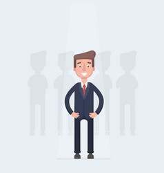 businessman in spotlight isolated on background vector image vector image