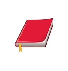 color silhouette with book with red cover and vector image vector image