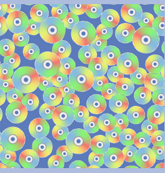 colorful plastic compact disc seamless pattern vector image