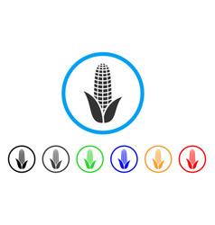 corn rounded icon vector image vector image