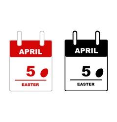 Easter calendar vector image vector image