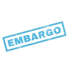 Embargo rubber stamp vector