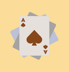 Flat icon on background poker playing cards vector
