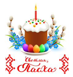 happy easter translation from russian vector image