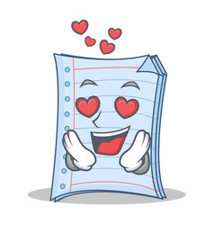In love notebook character cartoon design vector